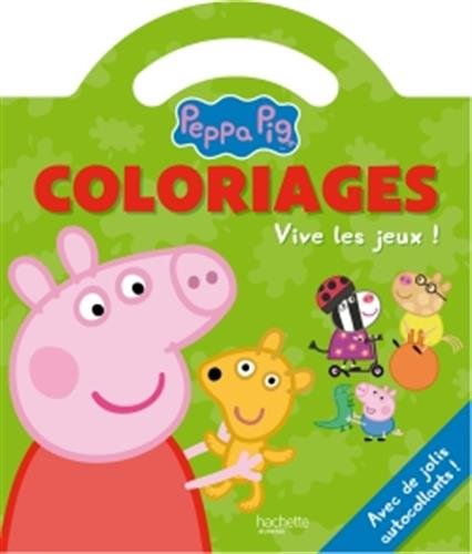 livre peppa pig coloriages poign e vive les jeux france jeux. Black Bedroom Furniture Sets. Home Design Ideas
