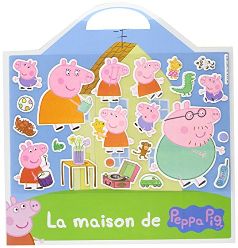 livre peppa pig valisette stickers mousse la maison. Black Bedroom Furniture Sets. Home Design Ideas