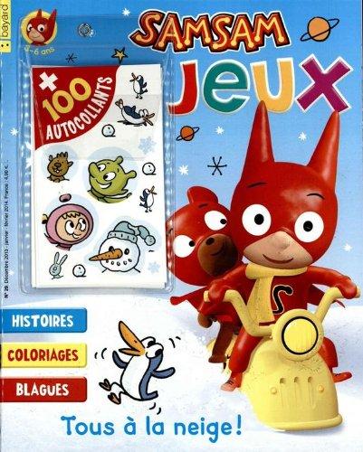 Livre SAMSAM JEUX 3-6 ans; tous à la neige + 100 autocollants - France Jeux