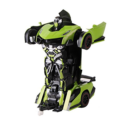 voiture t l command e robot voiture transformable et t l command justice fighter vert. Black Bedroom Furniture Sets. Home Design Ideas