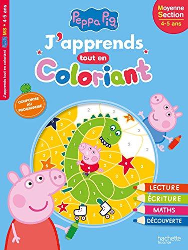 Livre peppa pig j 39 apprends tout en coloriant ms france jeux - Jeux de papa pig ...