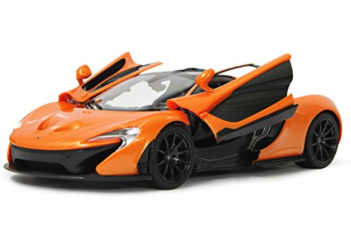 voiture t l command e jamara mclaren p1 1 14 orange et noir voiture t l command e avec. Black Bedroom Furniture Sets. Home Design Ideas