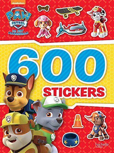 livre paw patrol la pat 39 patrouille 600 stickers france jeux. Black Bedroom Furniture Sets. Home Design Ideas