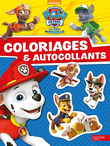 livre paw patrol la pat 39 patrouille coloriages et autocollants france jeux. Black Bedroom Furniture Sets. Home Design Ideas