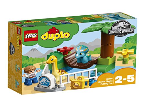 Lego 10879 duplo jurassic world jeu de construction le zoo des adorables dinos france jeux - Jeux lego dino ...