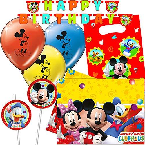 c3fe989f271ce Procos/Carpeta Lot DE 47 pièces Kit de fête Mickey Mouse pour ...