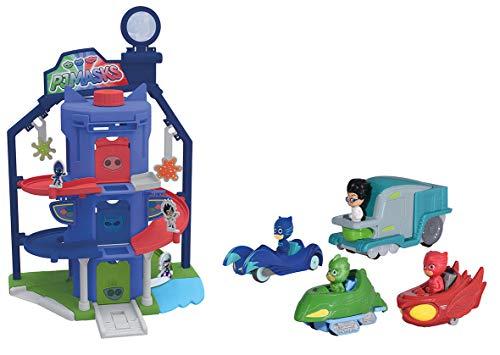 majorette pj masks garage quartier general pyjamasques 4 v hicules france jeux. Black Bedroom Furniture Sets. Home Design Ideas