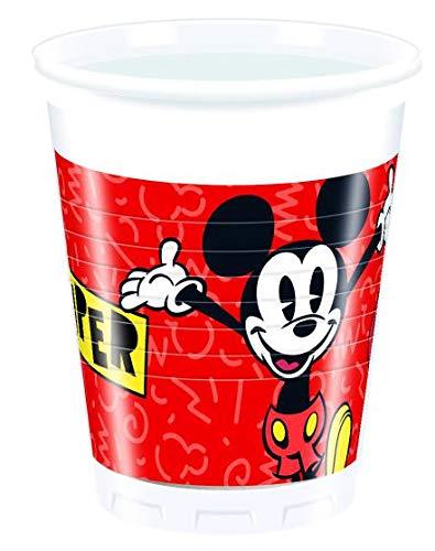 Disney Mickey Mouse Super Cool Lot De 8 Gobelets Pour Anniversaire